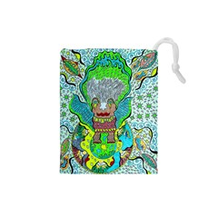 Cosmic Planet Angel Drawstring Pouch (small)