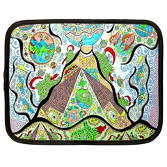Cosmic Pyramid Netbook Case (large)