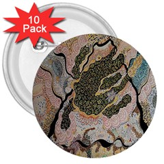 Lizard Volcano 3  Buttons (10 Pack)