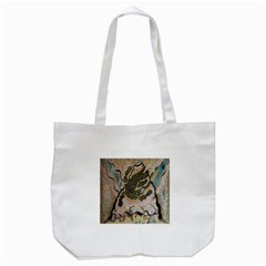 Lizard Volcano Tote Bag (white)