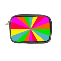 Neon Rainbow Burst Coin Purse by PodArtist
