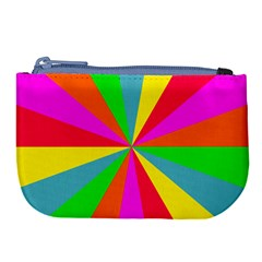Neon Rainbow Burst Large Coin Purse