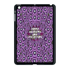 Forest Of Climbing Flowers And Life Is Fine Apple Ipad Mini Case (black) by pepitasart