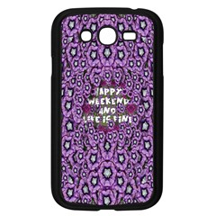 Forest Of Climbing Flowers And Life Is Fine Samsung Galaxy Grand Duos I9082 Case (black) by pepitasart