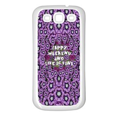 Forest Of Climbing Flowers And Life Is Fine Samsung Galaxy S3 Back Case (white) by pepitasart
