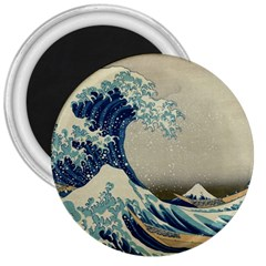 The Classic Japanese Great Wave Off Kanagawa By Hokusai 3  Magnets by PodArtist