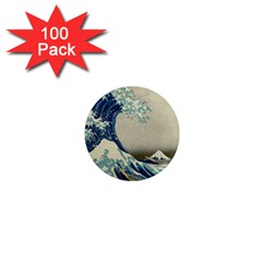 The Classic Japanese Great Wave Off Kanagawa By Hokusai 1  Mini Magnets (100 Pack)