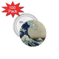 The Classic Japanese Great Wave Off Kanagawa By Hokusai 1 75  Buttons (100 Pack)  by PodArtist
