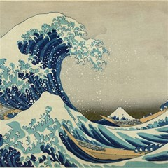 The Classic Japanese Great Wave Off Kanagawa By Hokusai Canvas 12  X 12  by PodArtist