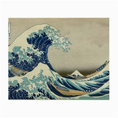 The Classic Japanese Great Wave Off Kanagawa By Hokusai Small Glasses Cloth (2 Side)