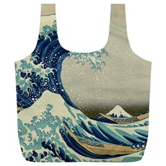 The Classic Japanese Great Wave Off Kanagawa By Hokusai Full Print Recycle Bag (xl)