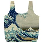 The Classic Japanese Great Wave off Kanagawa by Hokusai Full Print Recycle Bag (XL) Back