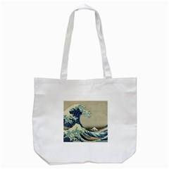 The Classic Japanese Great Wave Off Kanagawa By Hokusai Tote Bag (white) by PodArtist