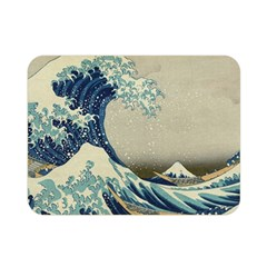 The Classic Japanese Great Wave Off Kanagawa By Hokusai Double Sided Flano Blanket (mini)  by PodArtist