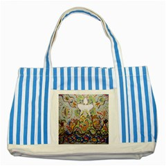 Starfish Striped Blue Tote Bag by chellerayartisans