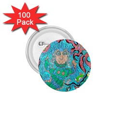 Mesmerizing Mermaid 1 75  Buttons (100 Pack)