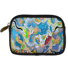 Angel Mermaids Digital Camera Leather Case by chellerayartisans