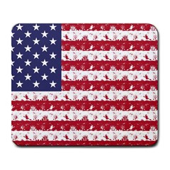 Usa Flag Halloween Holiday Nightmare Stripes Large Mousepads by PodArtist