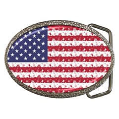 Usa Flag Halloween Holiday Nightmare Stripes Belt Buckles by PodArtist