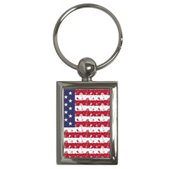 Usa Flag Halloween Holiday Nightmare Stripes Key Chains (rectangle)  by PodArtist