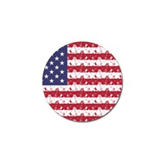 Usa Flag Halloween Holiday Nightmare Stripes Golf Ball Marker by PodArtist