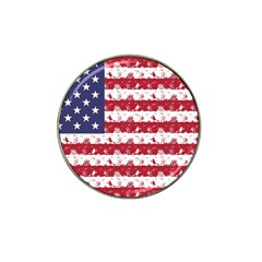 Usa Flag Halloween Holiday Nightmare Stripes Hat Clip Ball Marker (10 Pack) by PodArtist