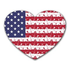 Usa Flag Halloween Holiday Nightmare Stripes Heart Mousepads by PodArtist