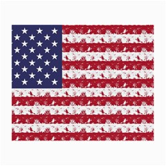 Usa Flag Halloween Holiday Nightmare Stripes Small Glasses Cloth (2 Side) by PodArtist