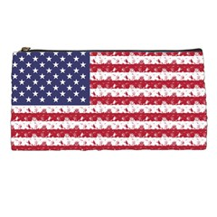 Usa Flag Halloween Holiday Nightmare Stripes Pencil Cases by PodArtist