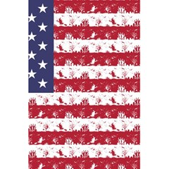 Usa Flag Halloween Holiday Nightmare Stripes 5 5  X 8 5  Notebook by PodArtist