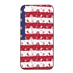 Usa Flag Halloween Holiday Nightmare Stripes Apple Iphone 4/4s Seamless Case (black) by PodArtist