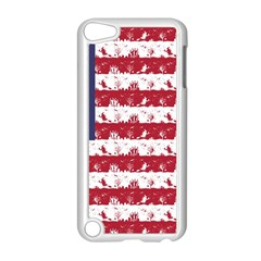Usa Flag Halloween Holiday Nightmare Stripes Apple Ipod Touch 5 Case (white) by PodArtist