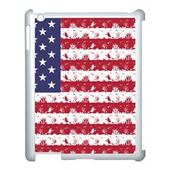 Usa Flag Halloween Holiday Nightmare Stripes Apple Ipad 3/4 Case (white) by PodArtist