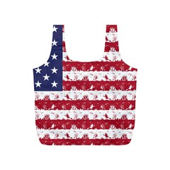 Usa Flag Halloween Holiday Nightmare Stripes Full Print Recycle Bag (s) by PodArtist