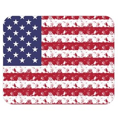 Usa Flag Halloween Holiday Nightmare Stripes Double Sided Flano Blanket (medium)  by PodArtist