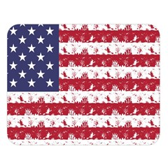 Usa Flag Halloween Holiday Nightmare Stripes Double Sided Flano Blanket (large)  by PodArtist