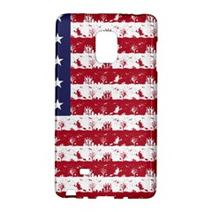 Usa Flag Halloween Holiday Nightmare Stripes Samsung Galaxy Note Edge Hardshell Case