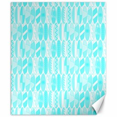 Aqua Blue Colored Waikiki Surfboards  Canvas 8  X 10  by PodArtist