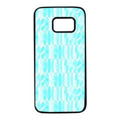 Aqua Blue Colored Waikiki Surfboards  Samsung Galaxy S7 Black Seamless Case by PodArtist