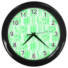 Bright Lime Green Colored Waikiki Surfboards  Wall Clock (black)