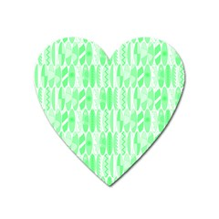 Bright Lime Green Colored Waikiki Surfboards  Heart Magnet by PodArtist