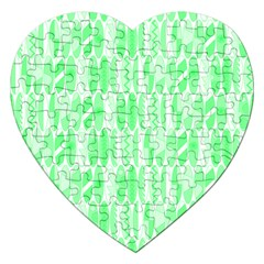 Bright Lime Green Colored Waikiki Surfboards  Jigsaw Puzzle (heart) by PodArtist