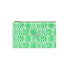 Bright Lime Green Colored Waikiki Surfboards  Cosmetic Bag (small) by PodArtist