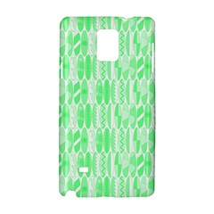 Bright Lime Green Colored Waikiki Surfboards  Samsung Galaxy Note 4 Hardshell Case by PodArtist