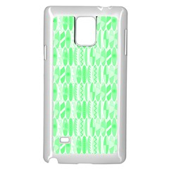 Bright Lime Green Colored Waikiki Surfboards  Samsung Galaxy Note 4 Case (white)
