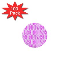 Bright Pink Colored Waikiki Surfboards  1  Mini Buttons (100 Pack)  by PodArtist
