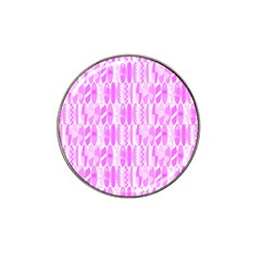 Bright Pink Colored Waikiki Surfboards  Hat Clip Ball Marker (4 Pack) by PodArtist