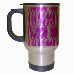 Bright Pink Colored Waikiki Surfboards  Travel Mug (silver Gray) by PodArtist