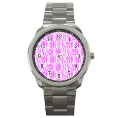 Bright Pink Colored Waikiki Surfboards  Sport Metal Watch by PodArtist