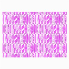 Bright Pink Colored Waikiki Surfboards  Large Glasses Cloth (2 Side) by PodArtist